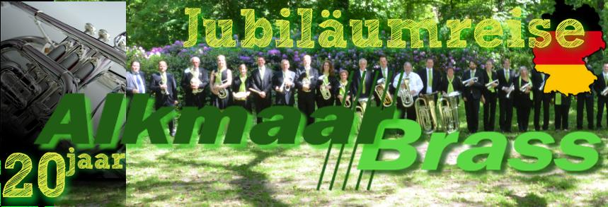 Logo jubileumreis 20 jaar Alkmaar Brass
